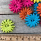 Funky Daisy Buttons  Assorted Bright Colours